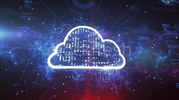 雲 技術 空 雲 抽象的な 世界 ストックフォト © klss