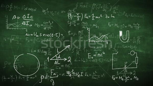 Physical formulas, tasks, plots Stock photo © klss