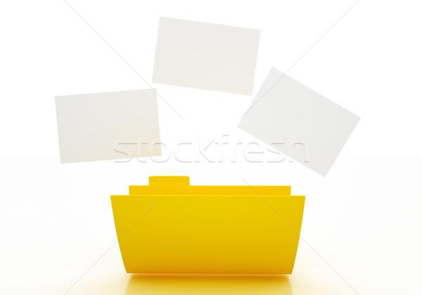 3D フォルダ アイコン 画像 紙 白 ストックフォト © klss
