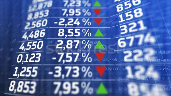 Giełdzie rynku danych niebieski Widok streszczenie Zdjęcia stock © klss