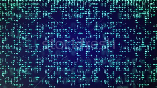 抽象的な 青 技術 バイナリ コンピュータ コード ストックフォト © klss