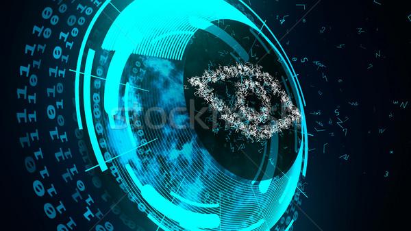 インターネット 技術 セキュリティ 抽象的な デジタル 眼 ストックフォト © klss