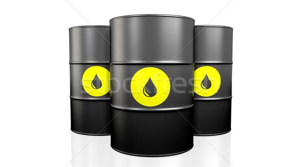 Black oil barrel. Stock photo © klss
