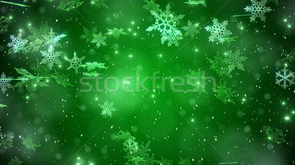 冬 風景 下がり 雪 美しい 雪 ストックフォト © klss