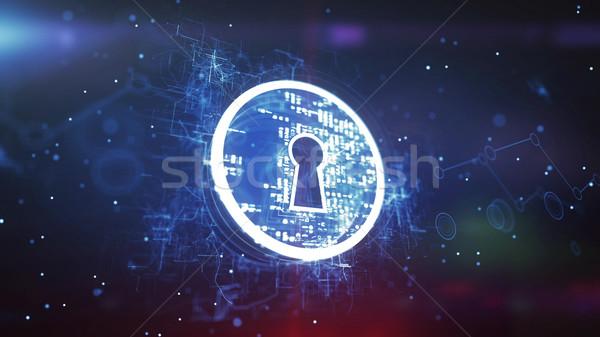 Keyhole. Internet Security Concept Stock photo © klss