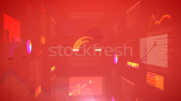 Stock exchange chart graph with a red background Stock photo © klss
