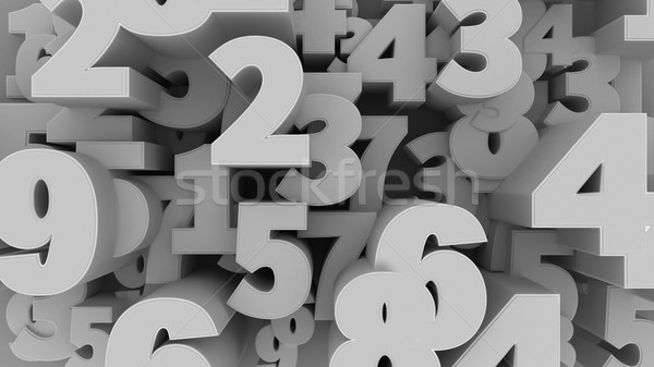 Number Background. Stock photo © klss
