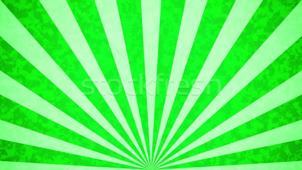 Rétro vert soleil design ciel Photo stock © klss