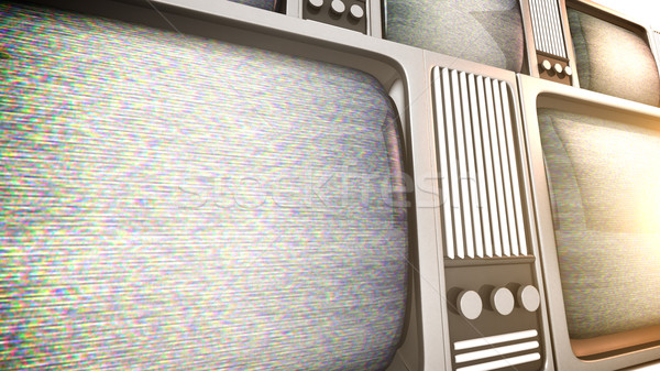 tv sets with static. Stock photo © klss