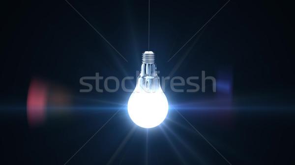 3d render preto vidro fundo energia Foto stock © klss