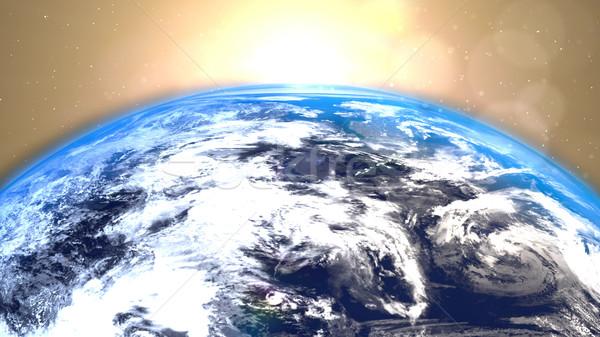 Tierra rotación espacio resumen ciencia círculo Foto stock © klss
