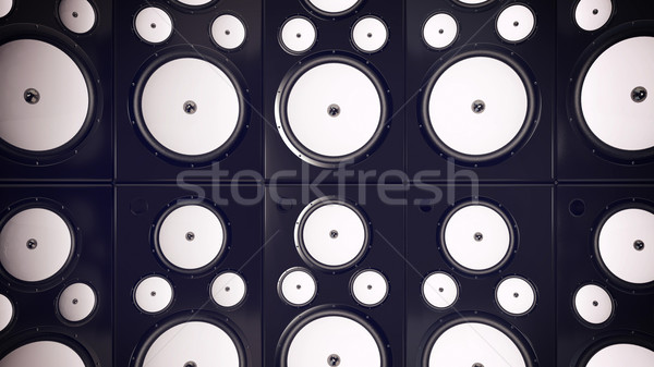 Audio sprekers abstract 3d render dans ontwerp Stockfoto © klss