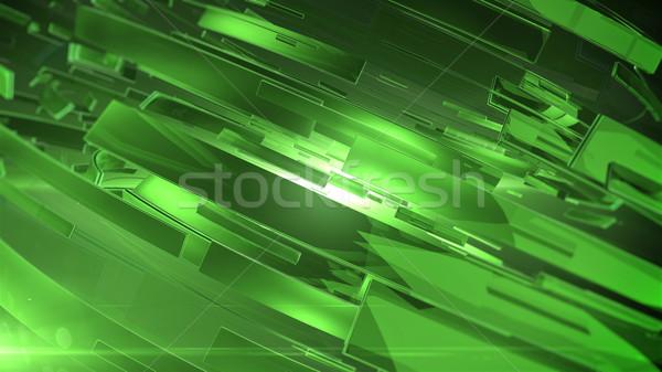 抽象的な 3D 緑 色 バージョン ストックフォト © klss
