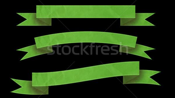 緑 リボン バナー 文字 黒 にログイン ストックフォト © klss