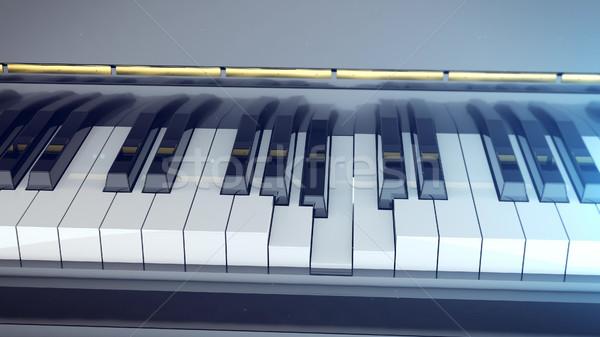 Hangversenyzongora billentyűzet 3D renderelt kép klasszikus zene Stock fotó © klss