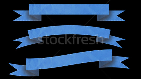 Blue Ribbon banners for your text.  Stock photo © klss