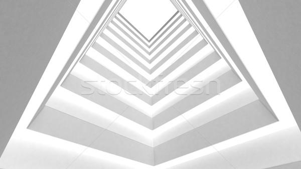 Blanche bâtiment résumé maison lumière design Photo stock © klss