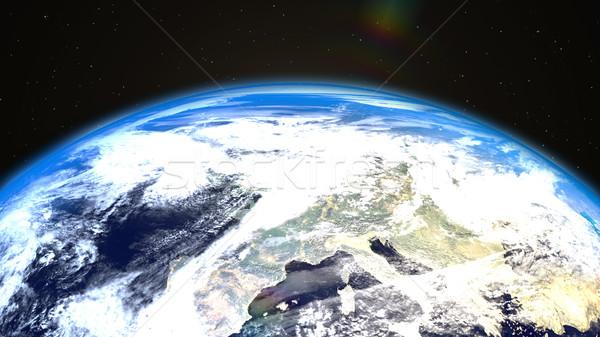 Widoku ziemi przestrzeni świat tle nauki Zdjęcia stock © klss