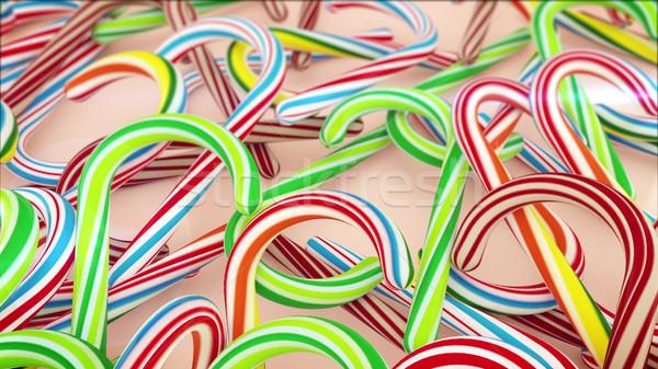 красочный Рождества конфеты 3D фон Сток-фото © klss