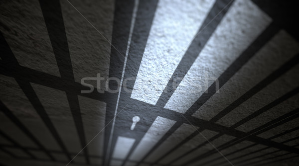 Jail cells shadows Stock photo © klss