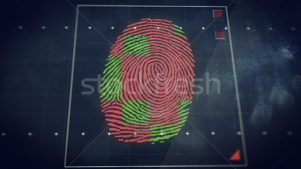 Abstract technology background. Security system concept with fingerprint scanning. Stock photo © klss
