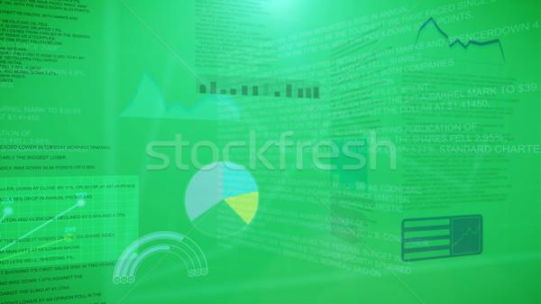 Finanziaria grafici classifiche contabili verde soldi Foto d'archivio © klss