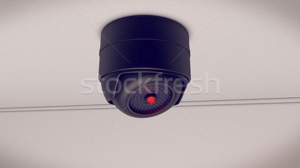 Aparatu bezpieczeństwa cctv lokalizacja 3D działalności Zdjęcia stock © klss