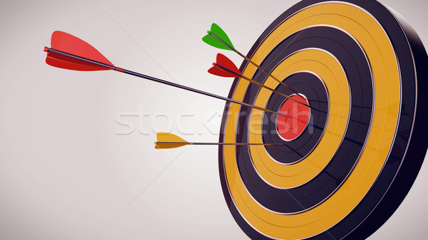 Hitting the target Stock photo © klss