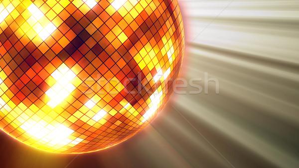 Fête lumières boule disco 3D fond Photo stock © klss