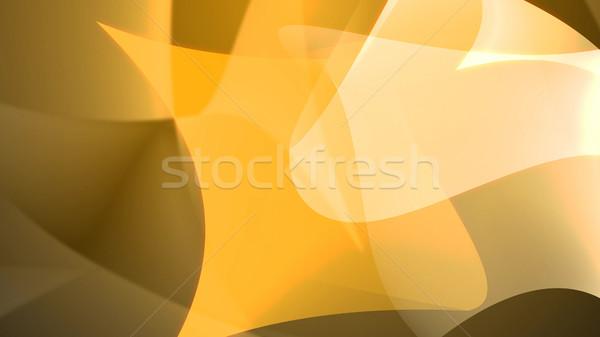 Photo stock: Résumé · jaune · 3d · illustration · fond · art