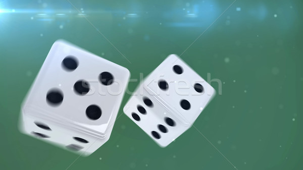 Two white gambling dices  Stock photo © klss