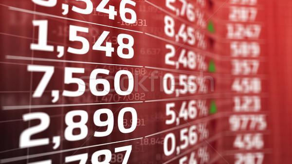 Gegevens forex markt citaten Rood display Stockfoto © klss