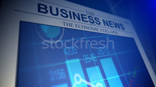 新聞 ビジネス ニュース 観点 表示 浅い ストックフォト © klss