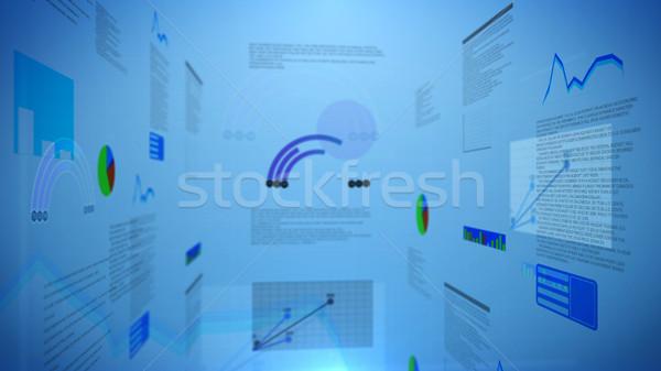 円グラフ チャート 淡い 青 ビジネス ストックフォト © klss
