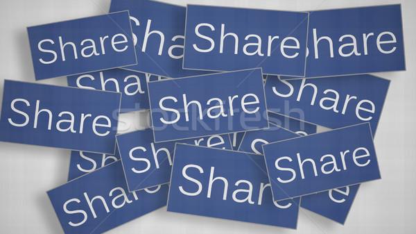A lot of Share buttons.  Stock photo © klss