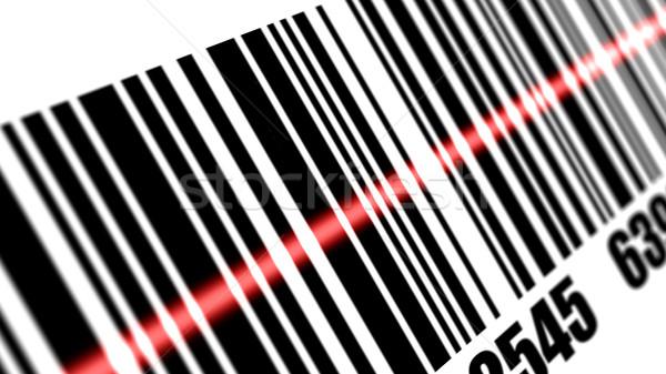Scanner barcode bianco mano luce tecnologia Foto d'archivio © klss