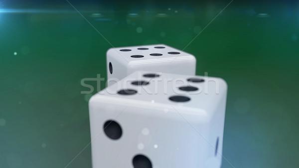 белый зеленый весело казино успех Сток-фото © klss