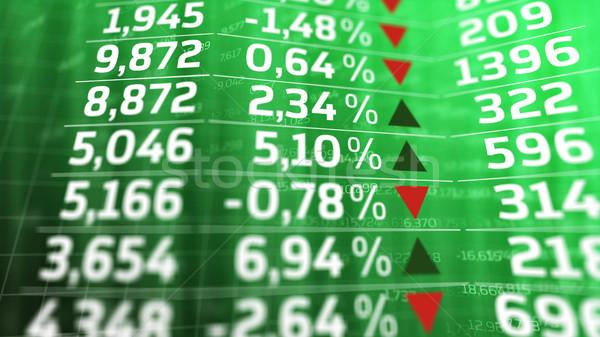 Finansal veri izlemek finanse yeşil göstermek Stok fotoğraf © klss