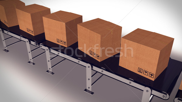 Packages delivery and mail service shipment concept. Stock photo © klss