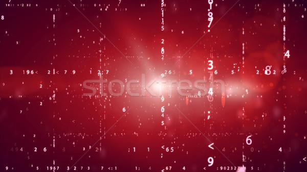 Kibertér digitális bináris kód piros számítógép technológia Stock fotó © klss