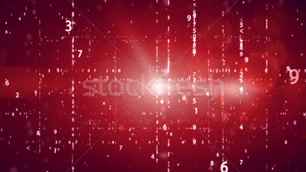 Random numbers code screen listing table cypher Stock photo © klss