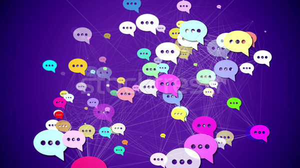 Messages icons Stock photo © klss