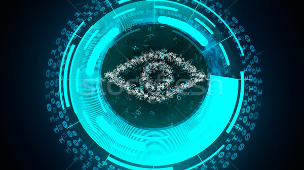 Cyber eye watch on you. Stock photo © klss
