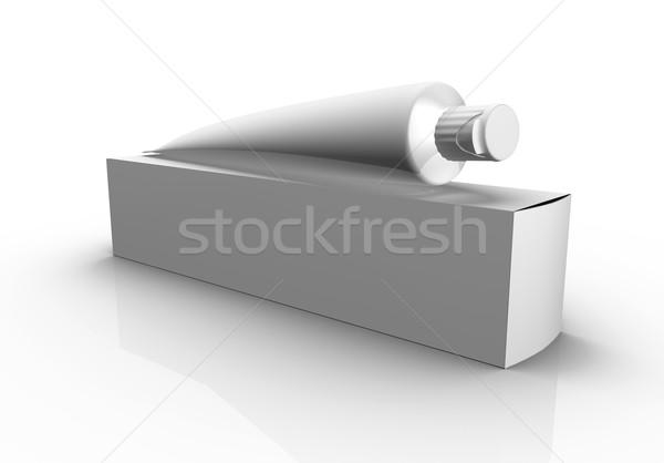 Doboz cső fehér fogkrém krém csomag Stock fotó © klss