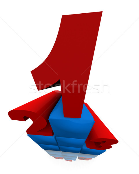 競争 勝者 3D 表彰台 2 ストックフォト © klss