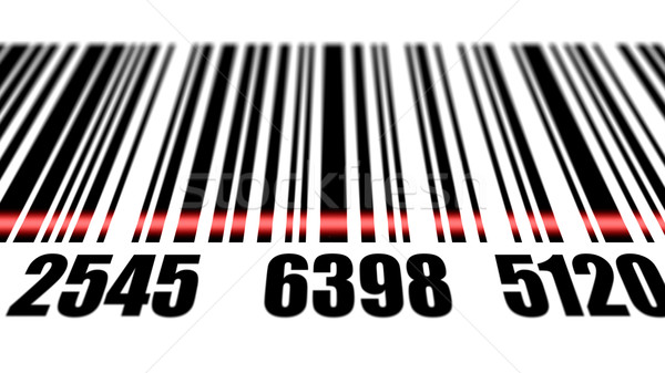 Barcode reading on white background. Stock photo © klss