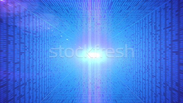 Binaire code abstract technologie beweging internet ontwerp Stockfoto © klss