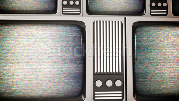 Retro tv screens with static. Stock photo © klss