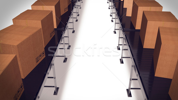 Packing and sorting industry Concept. Stock photo © klss