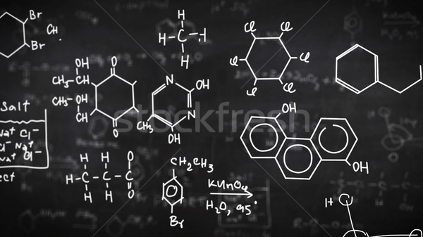 Chemical formulas  Stock photo © klss